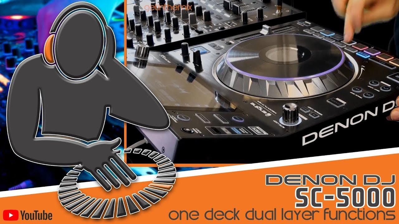 Denon SC5000 - Dual Layer Functions Using One Deck @ Getinthemix com