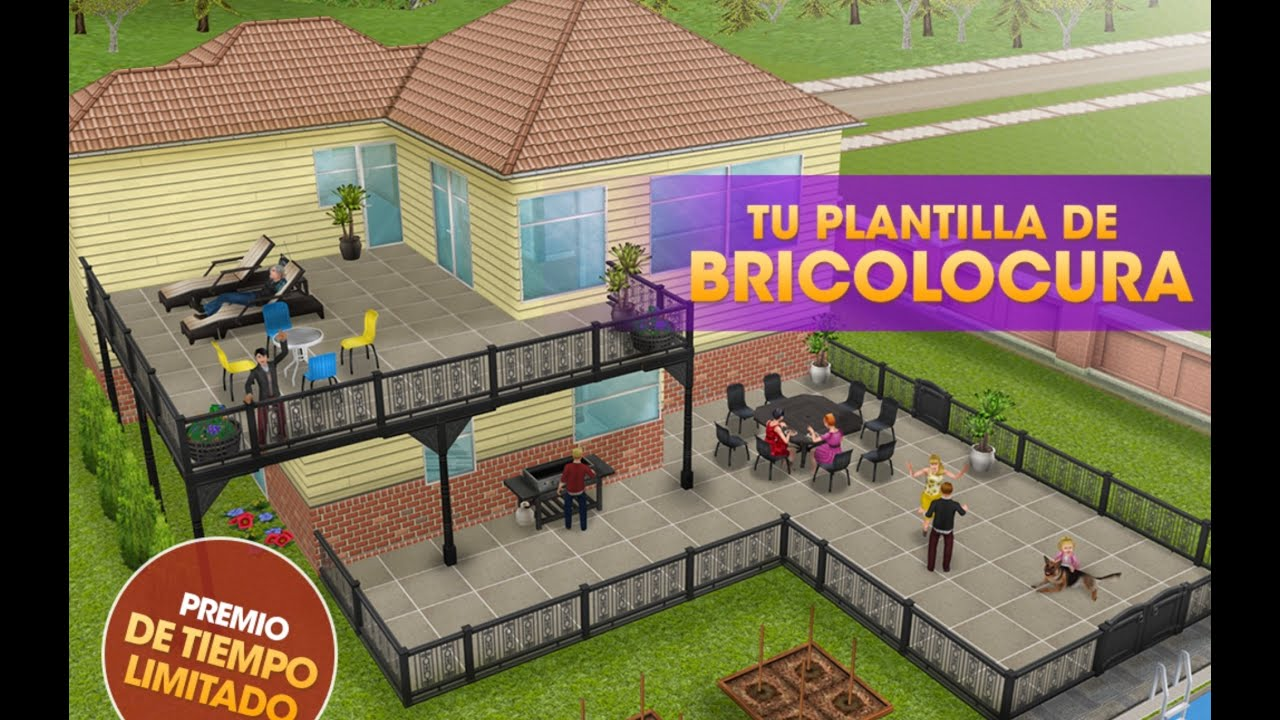 Sims freeplay la casa bricolocura recorrido youtube for Casa de diseno the sims freeplay