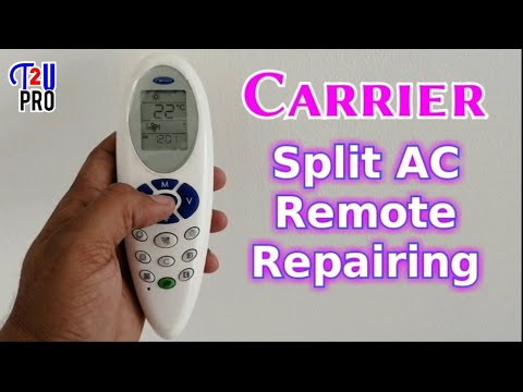 Carrier Split AC Remote Repairing|how to repair Air conditioner remote control
