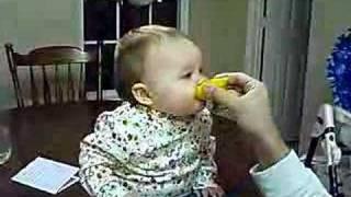 Baby Eats a Sour Lemon thumbnail