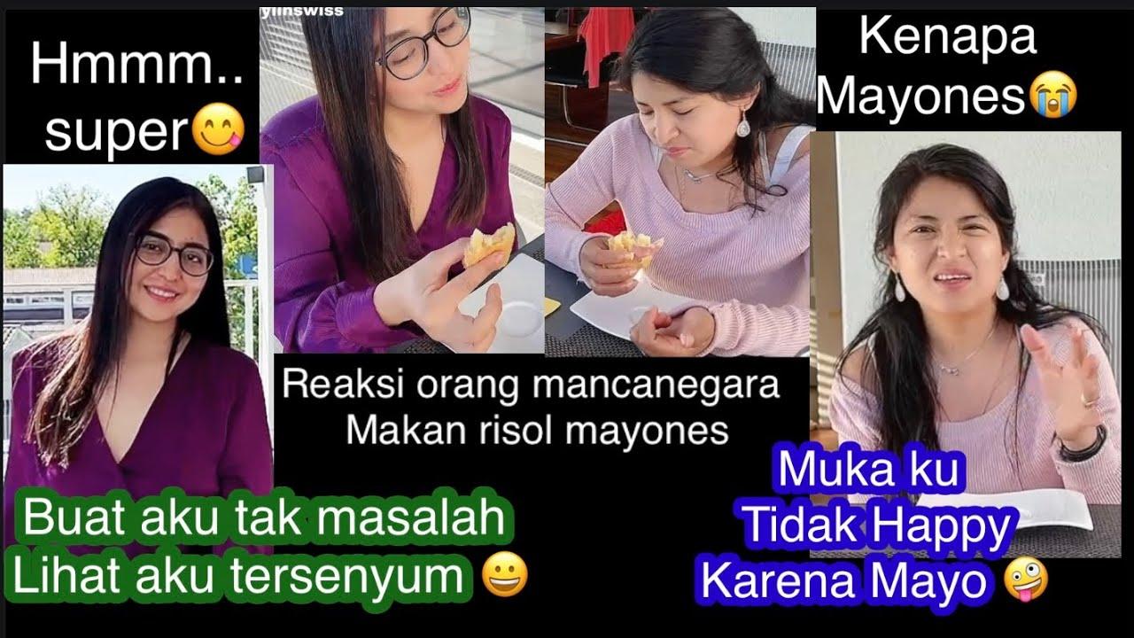 Oh Noo....,    Muka ku tidak Happy karena Mayo😩  Reaksi orang mancanegara makan risol Mayones