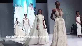 Bridal designer EseAzenabor at the Lagos Bridal Fashion Week 2018  LagosBFW2018