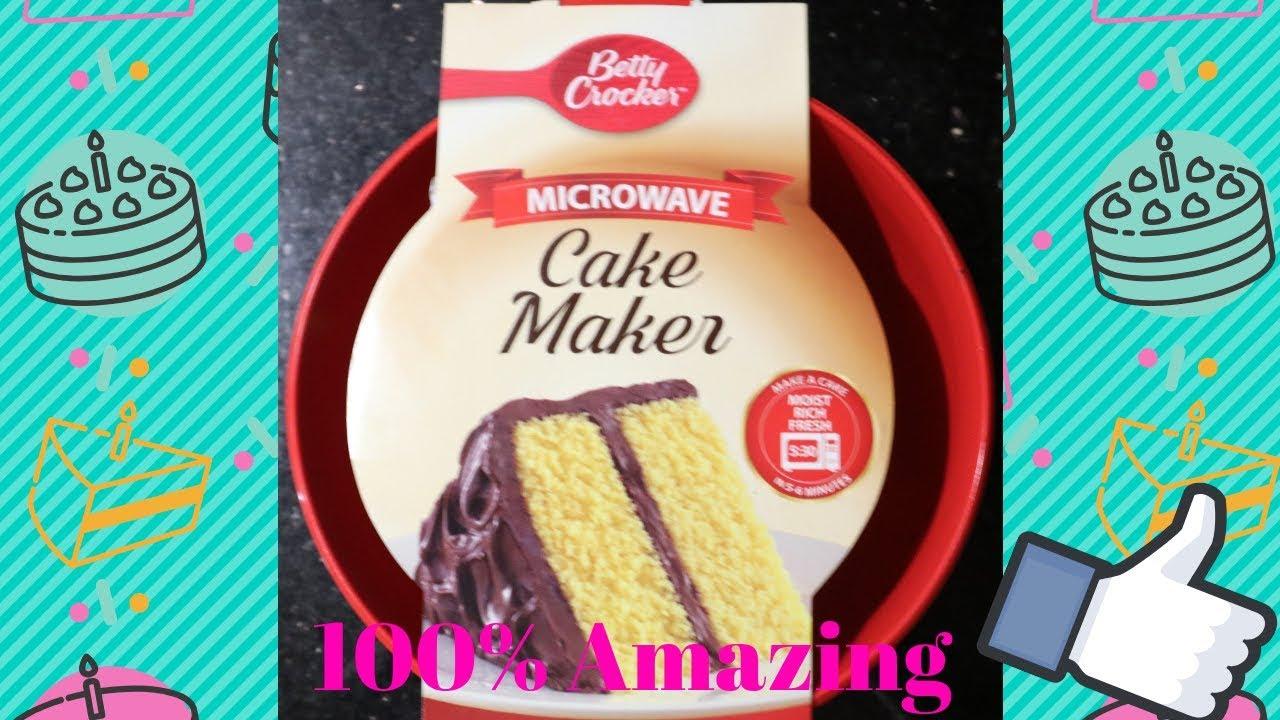 Betty Crocker Microwave Cake Maker Youtube