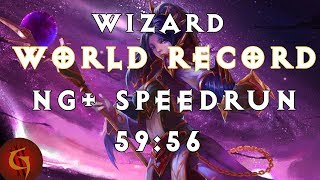 Diablo 3 Wizard Any% NG+ World Record Speedrun 59:56