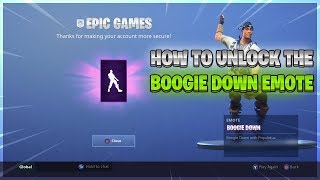 COMMENT UNLOCK THE BOOGIE DOWN EMOTE FOR FREE FORTNITE!