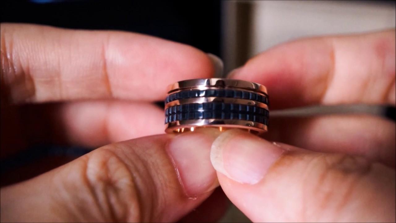 iDo Jewellery - Edgy Black Ceramic Rose Gold and Diamond Wedding ...