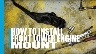 How to install the front lower engine mount Mazda Tribute