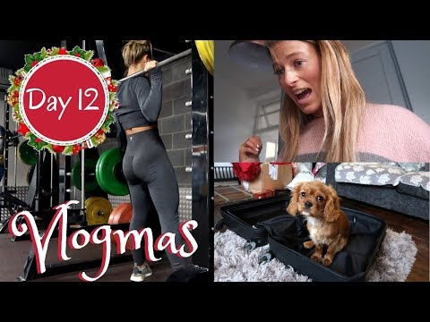 SPEND A MANIC DAY WITH ME & A Quick And Intense Leg Workout | VLOGMAS DAY 12