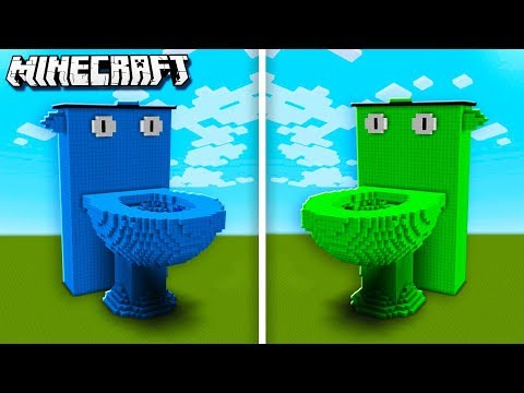 DENIS TOILET Vs. SUB TOILET In Minecraft! (The Pals Minecraft)