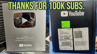 silver play button unboxing 2019, thanks for support 100k subscribers