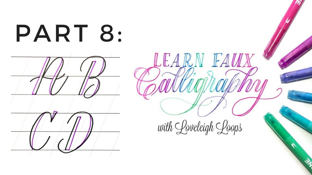 Faux Calligraphy Capital A B C D Youtube