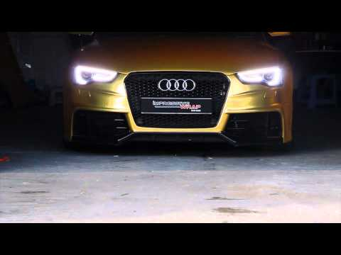 Audi S5 Sportback Full Wrapped in Satin Gold Chrome by Impressive Wrap (Hong Kong)