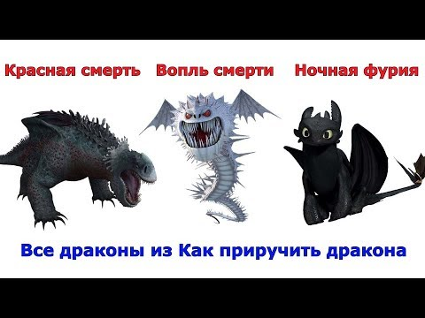 Сравнение всех драконов