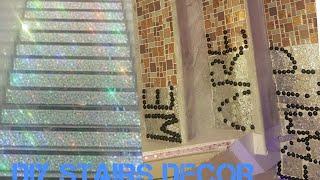 Diy Glitter Staircase Decor/ Pound Shop Staircase Decoration 2018