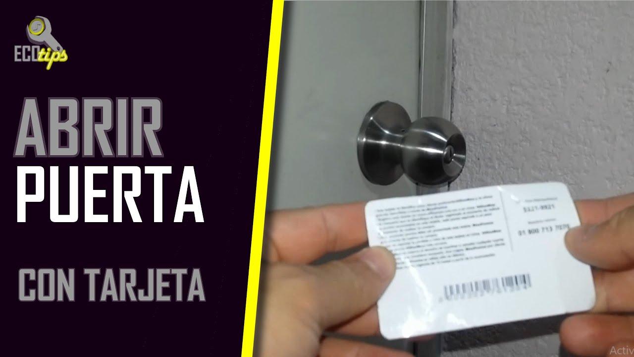 How To Open A Door Without A Key >> Cómo abrir una puerta sin llave (Con sólo una tarjeta ...