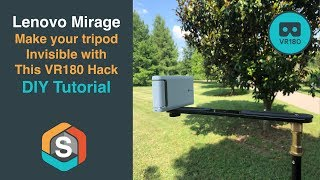 Lenovo Mirage   Make your tripod Invisible with This VR180 Hack   DIY Tutorial