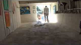 How To Polish A Concrete Floor Step 1