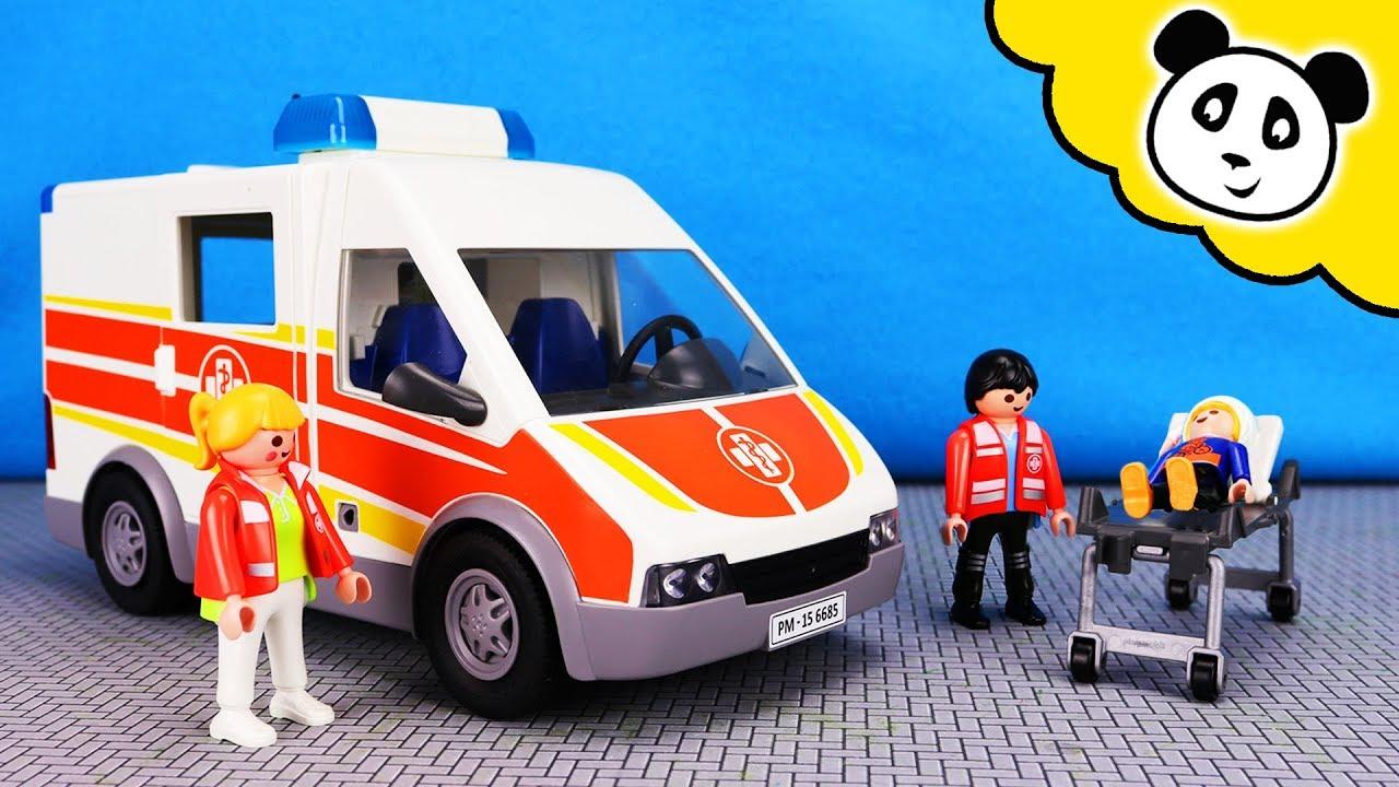 playmobil krankenwagen max muss ins krankenhaus. Black Bedroom Furniture Sets. Home Design Ideas
