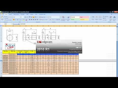 Edgecam Microsoft Excel CNC Manufacturing