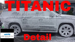 Preparing the Titanic for Detail!! ( Gigantic SUV gets the pre - wash treatment and contact wash)