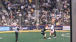 4/21/12 Minnesota Swarm lacrosse game, fight between Suitor and Dawson