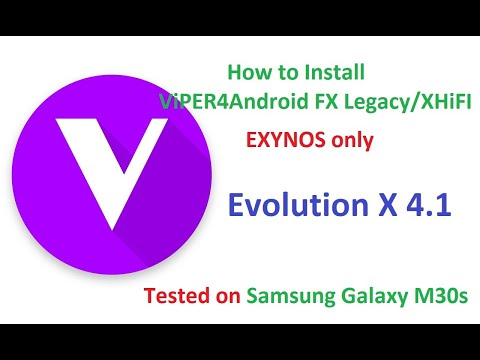 How to Install ViPER4Android FX on Evolution X 4.1 GSI ROM on Samsung Galaxy M30s Android 10 Q