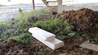 утепление цоколя дома на бетонных сваях