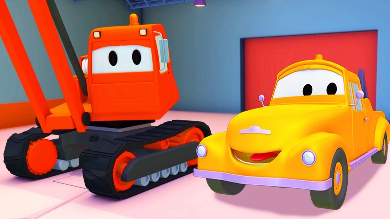 Tom il carro attrezzi e la gru di demolizione in car city