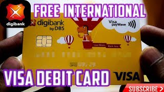 (Hindi) How To Get Free International Physical Debit Card by DBS    unlimited atm transaction   