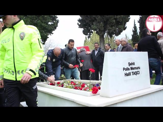 Polis Şehitliği'nde Tören.