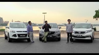 DRIVEN #2: Honda CR-V vs Mazda CX-5 vs Ford Kuga(The new Honda CR-V battles it out with the Mazda CX-5 and Ford Kuga in our SUV shootout. Who makes the best family SUV? Watch to find out. Read more ..., 2013-11-25T14:35:11.000Z)