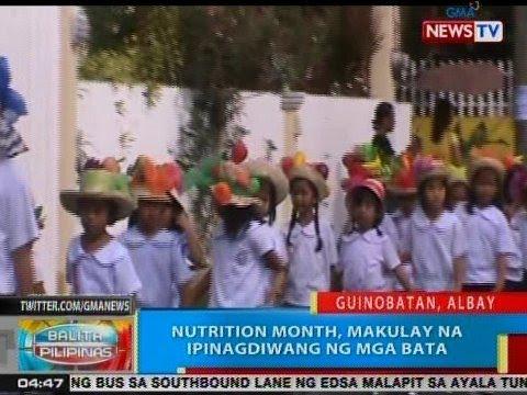 BP: Nutrition Month, makulay na ipinagdiwang ng mga bata sa Albay