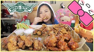 WINGSTOP CHICKEN WINGS | MUKBANG