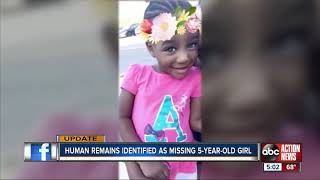 Taylor Williams: Remains found in Alabama confirmed to be missing 5-year-old Florida girl
