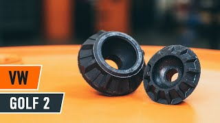 front and rear Strut Mount fitting VW GOLF II (19E, 1G1): free video