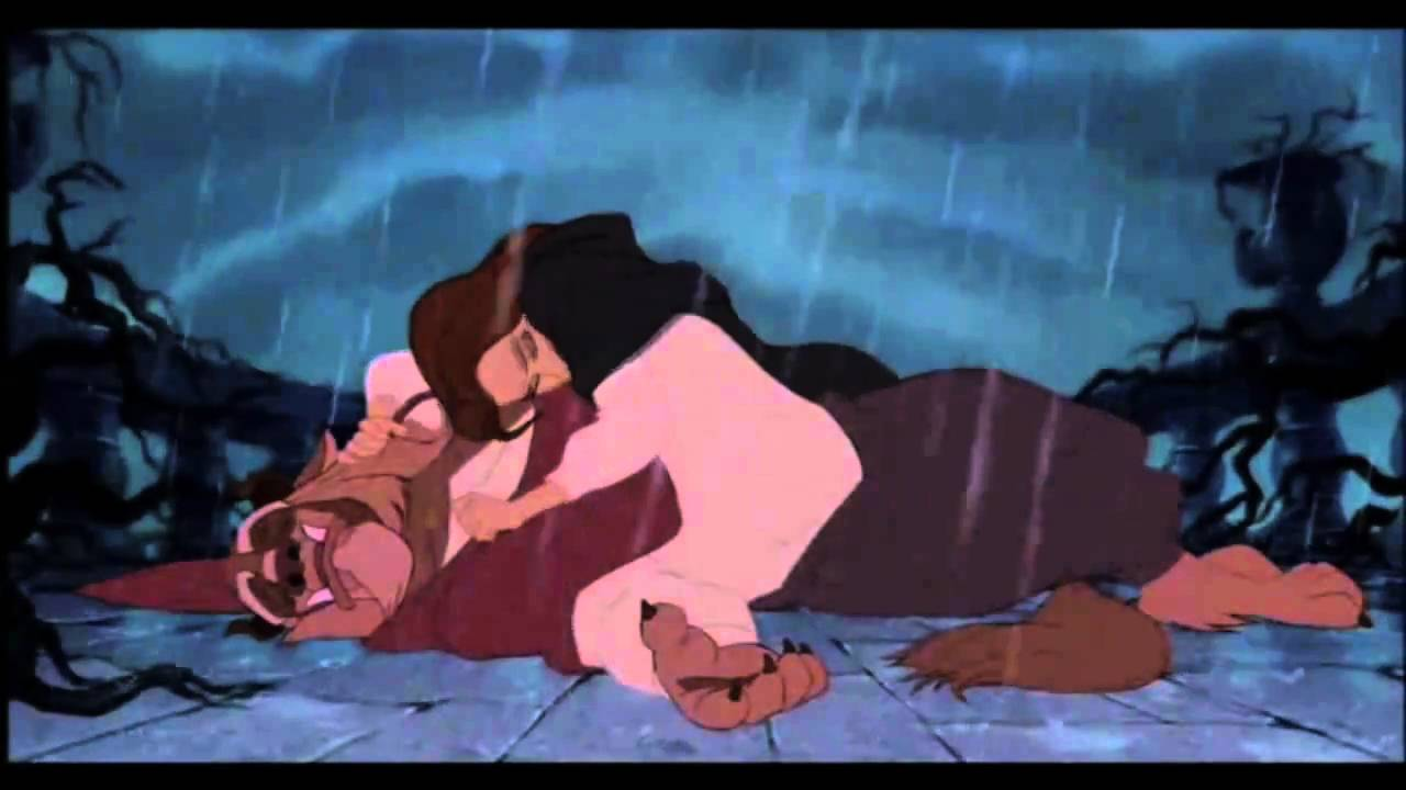 beauty and the beast 1991 ending relationship