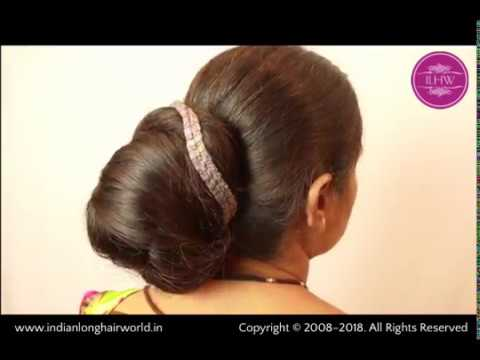 ILHW Ganga's Monster Knot Style Bun Making By Male Hair Stylist