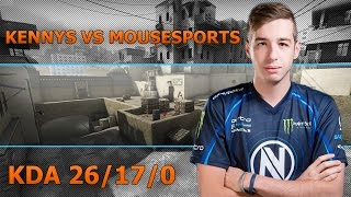 POV kennyS vs mousesports - de_dust2 | KDA 26/17/0