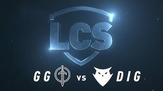 GG vs DIG | Week 9 | Spring Split 2020 | Golden Guardians vs. Dignitas