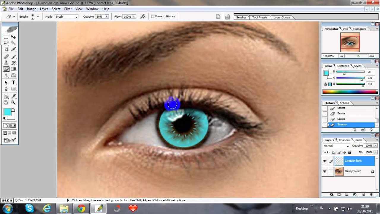 How to edit contact lense in Photoshop - YouTube