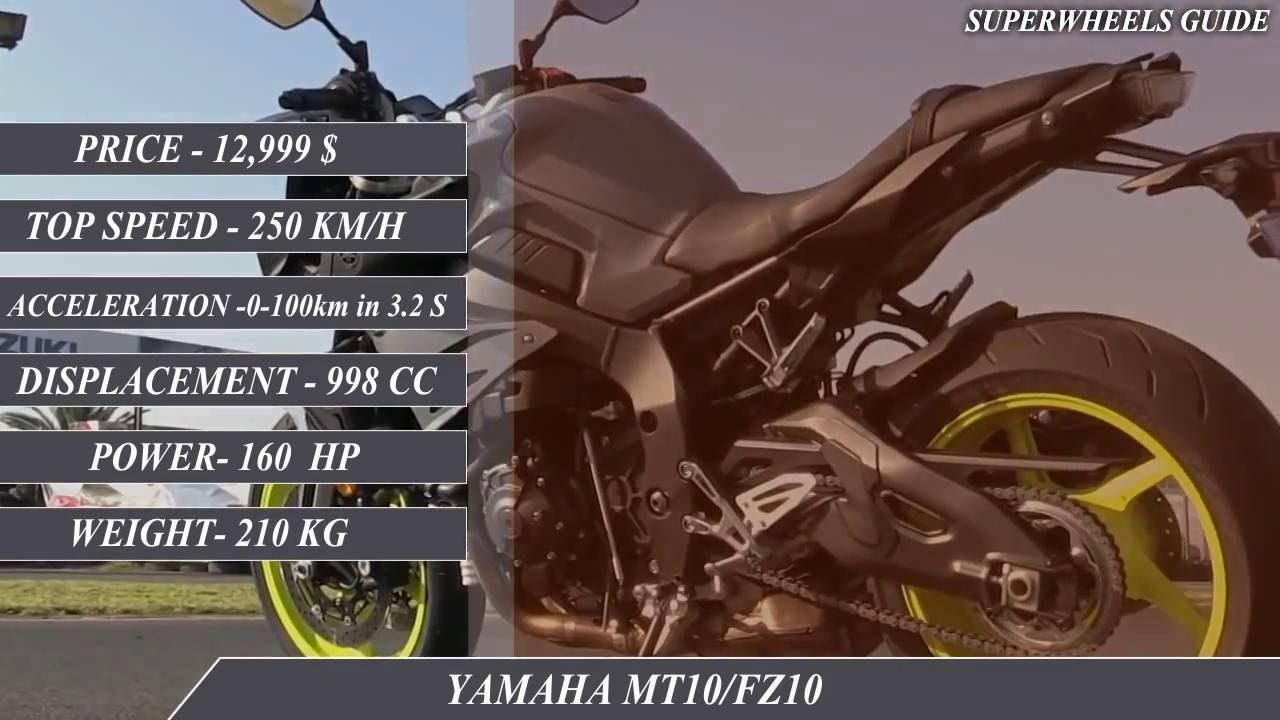 Yamaha Mt10fz10 Vs Triumph Speed Triple R Specifications Youtube