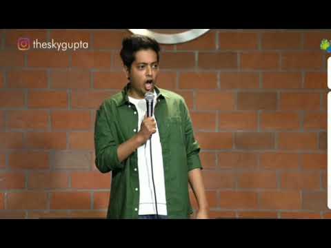 sarojini nagar market viral video of standup comedian akash Gupta @theskygupta