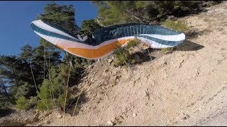 DANGER PARAGLIDING ROAD take off&landing.
