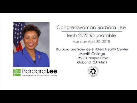Barbara Lee - Tech 2020 - Merritt College 4/30/18