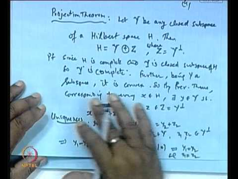 Mod-01 Lec-23 Projection Theorem, Orthonormal Sets and Sequences