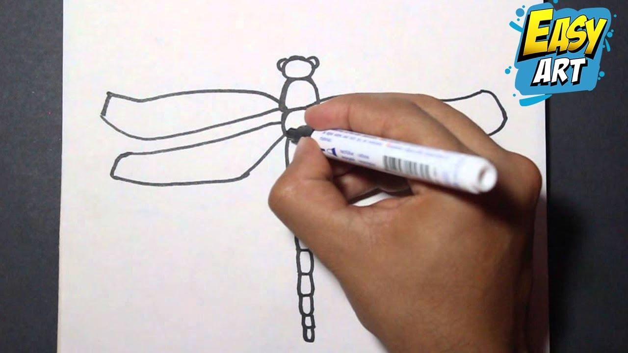 Como dibujar una libelula paso a paso | How to draw a dragonfly ...