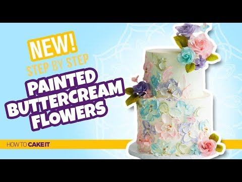 How To Make Painted Buttercream Flowers by Joni Kwan | How To Cake It Step By Step