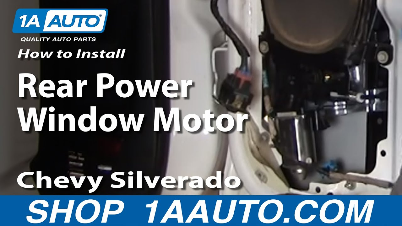 How to install replace broken rear power window motor for 2000 silverado window regulator