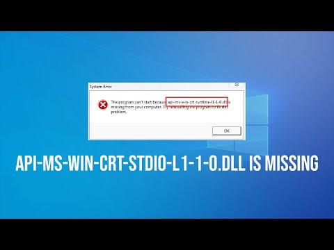 Solución API-Ms-Win-Crt-Stdio-l1-1-0.Dll Is Missing – Error de Microsoft Office