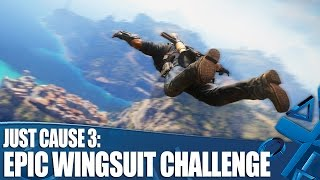 Just Cause 3 new PS4 gameplay - Wingsuit from the highest mountain